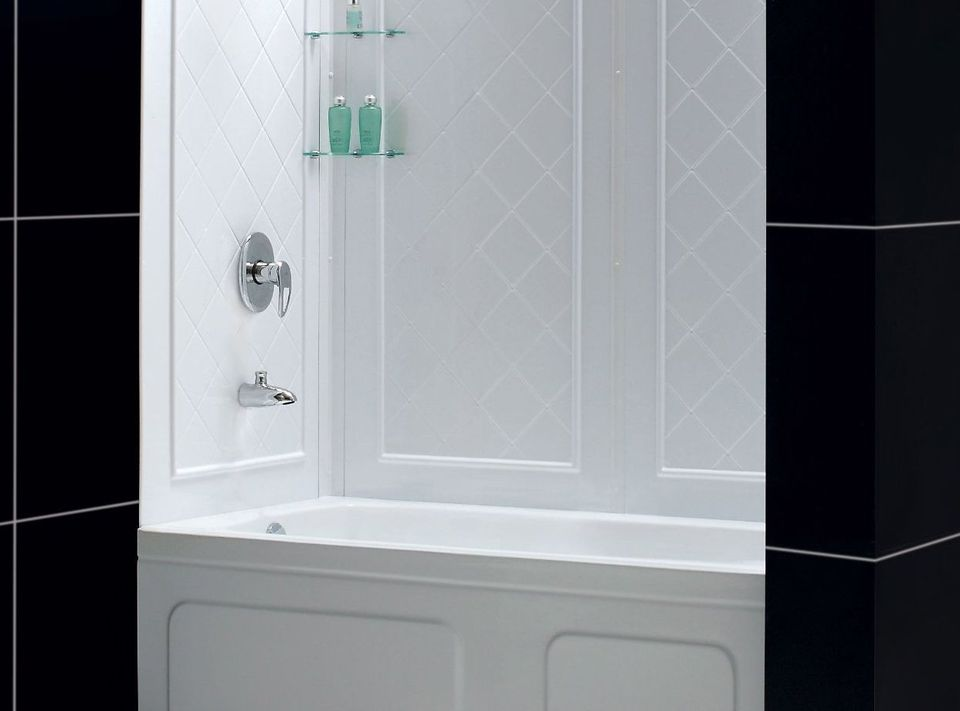 Photo of the Dreamline Wall Kit prefabricated shower