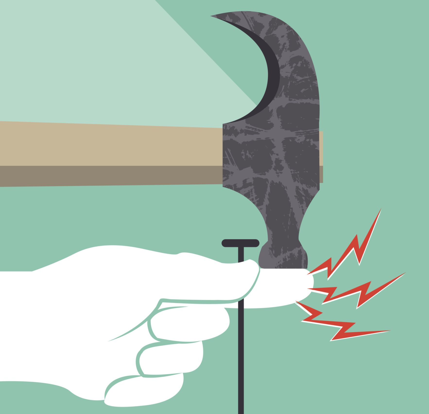 Hitting Finger With Hammer
