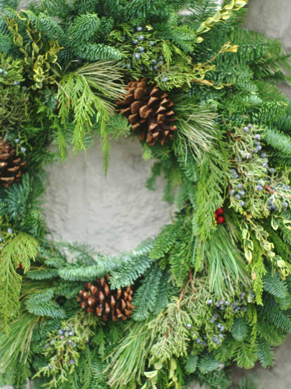Evergreen Christmas.Natural Christmas Decorations