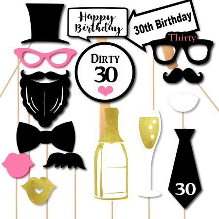 30th Birthday Party Ideas For Photobooth