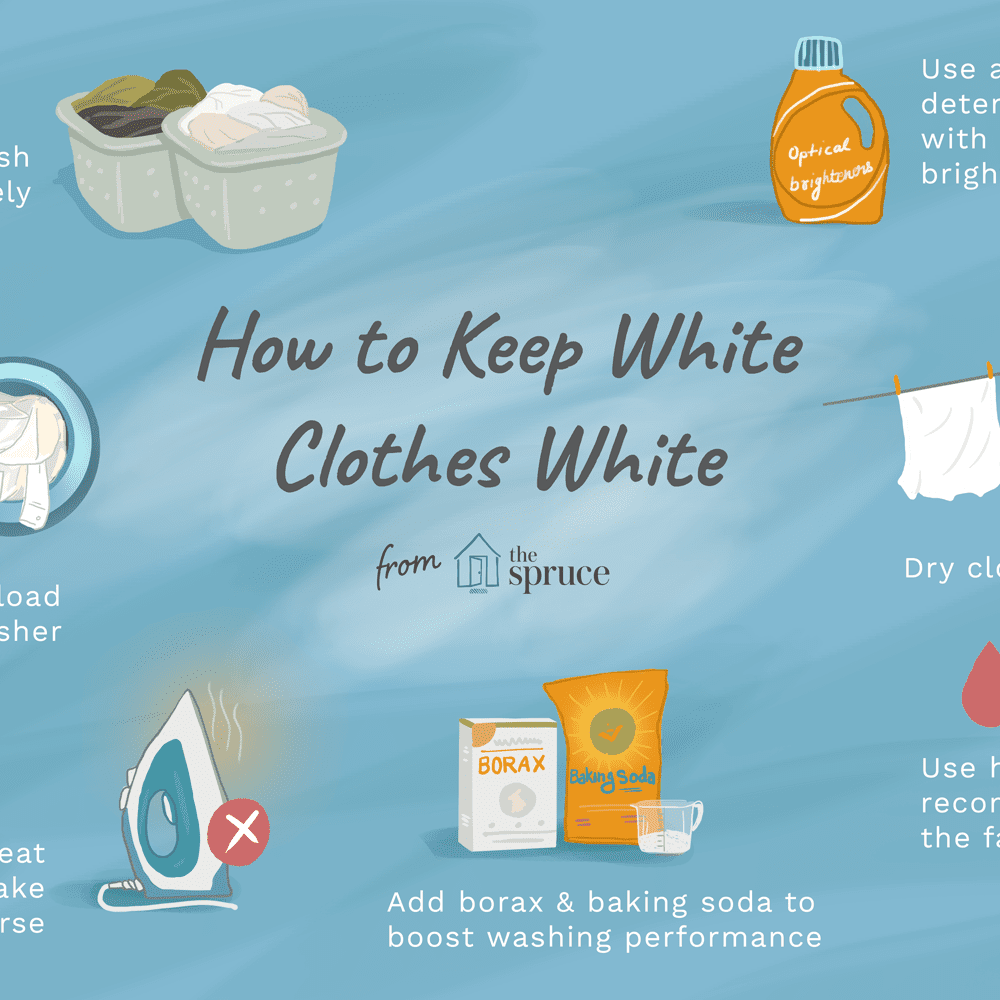 How to Wash White Clothing