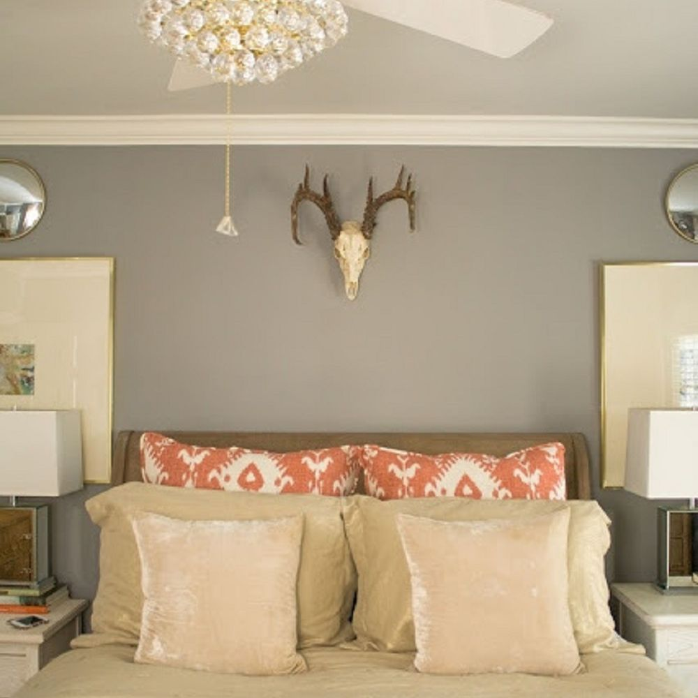 Ceiling fan with crystal chandelier