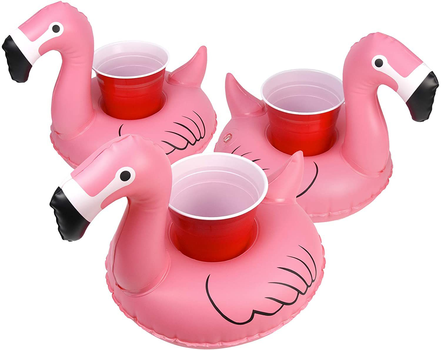 GoFloats Inflatable Pool Drink Holders (3 Pack)