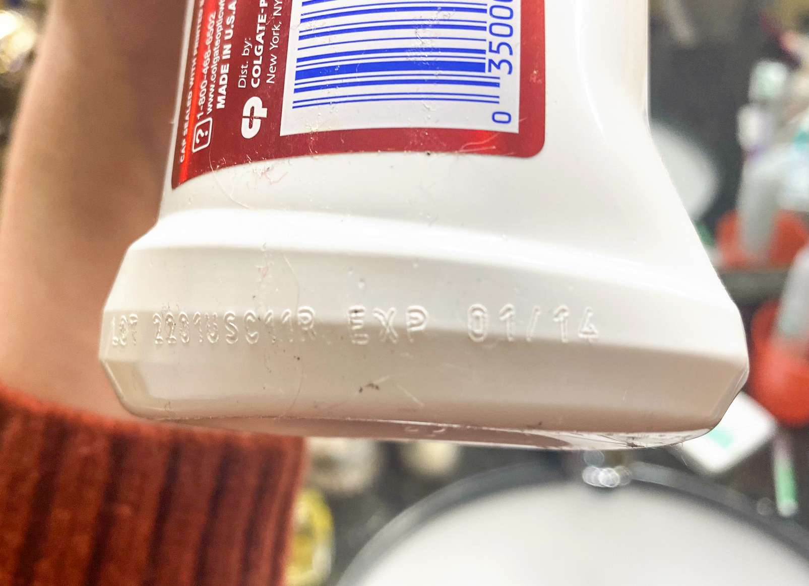 closeup of expired toothpaste