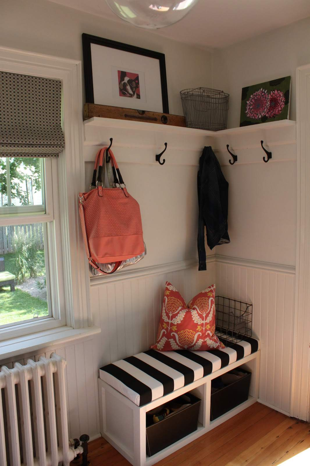 mudroom with shelving