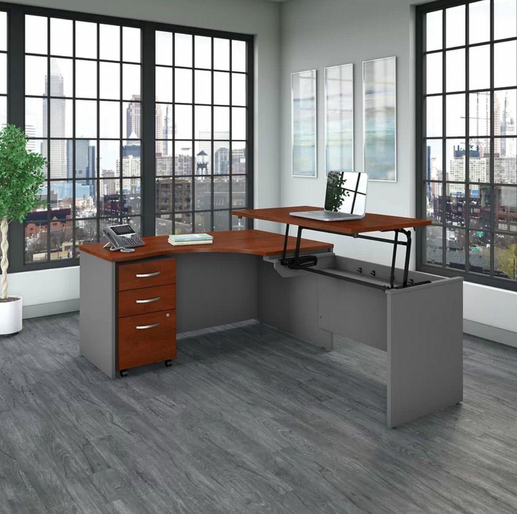 Adjustable L-Shape Standing Desk