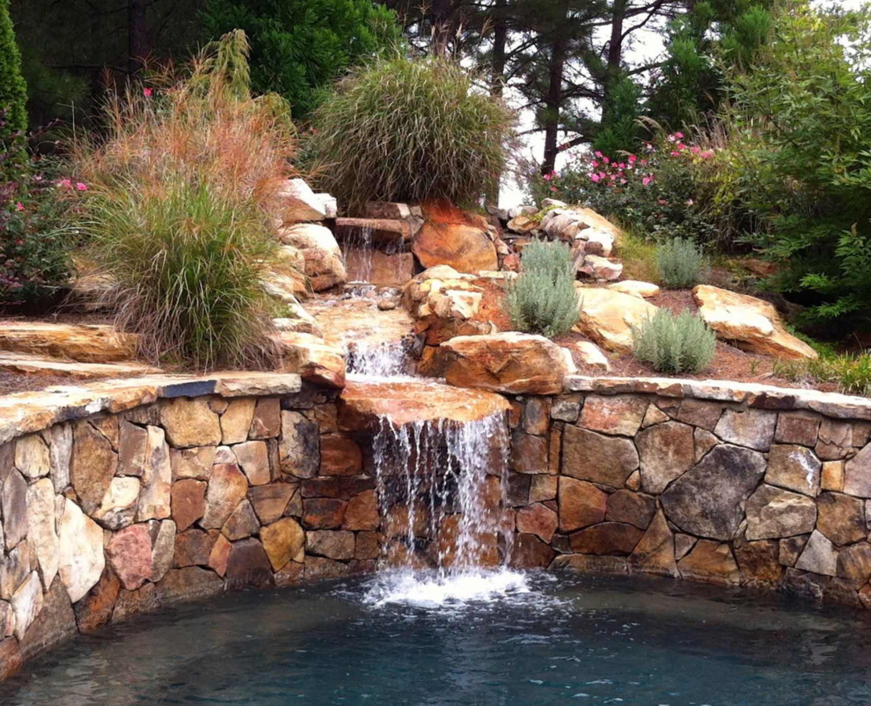 25 Pond Waterfall Designs and Ideas Raised Rock Water Garden Designs on raised rock garden ideas, raised vegetable garden plans, raised flower garden ideas,