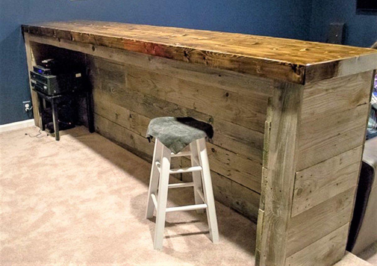 Wood Pallet Home Bar