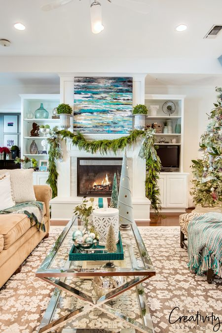 Blue Costal Inspired Living Room