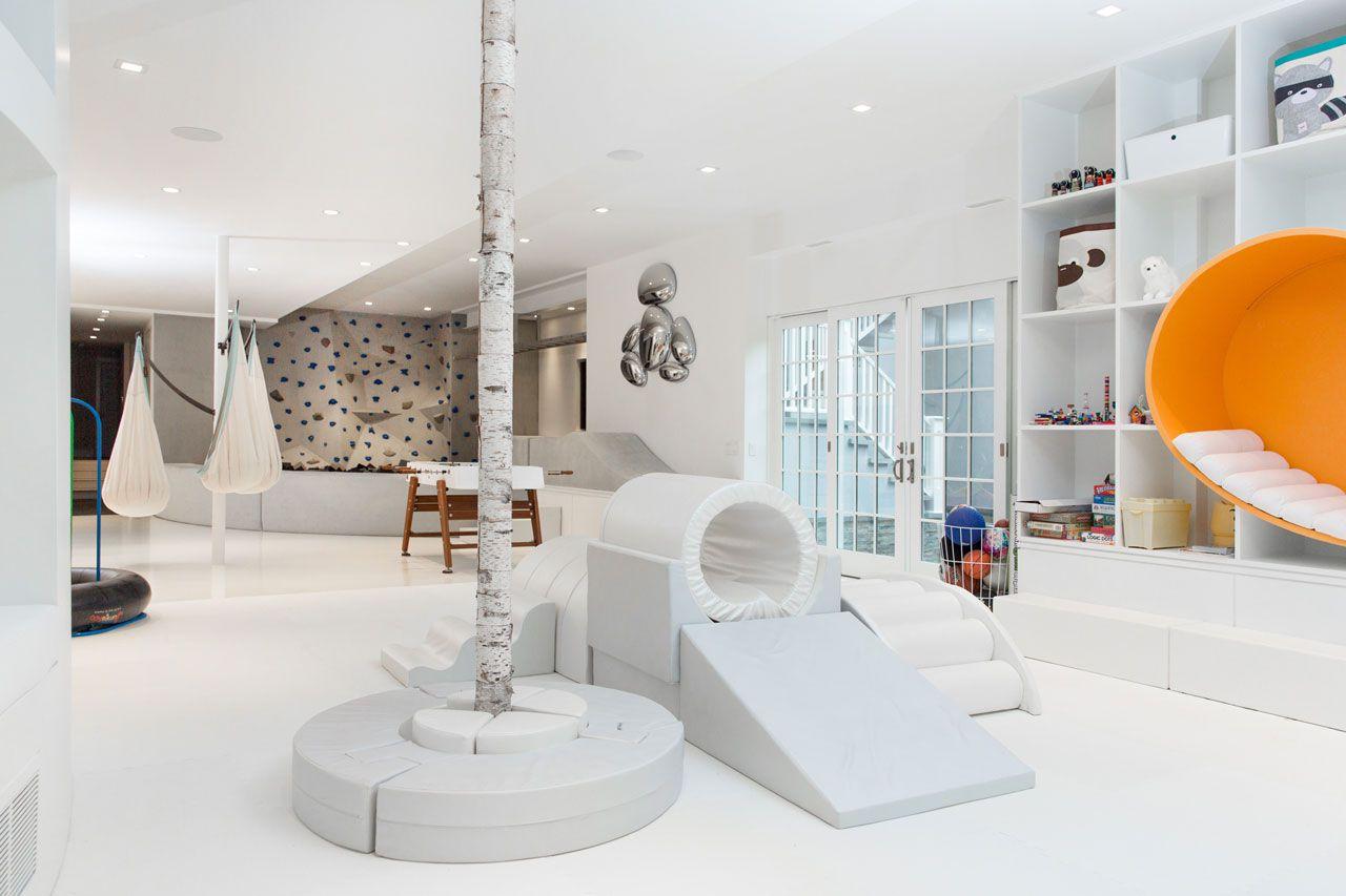 modern white playroom