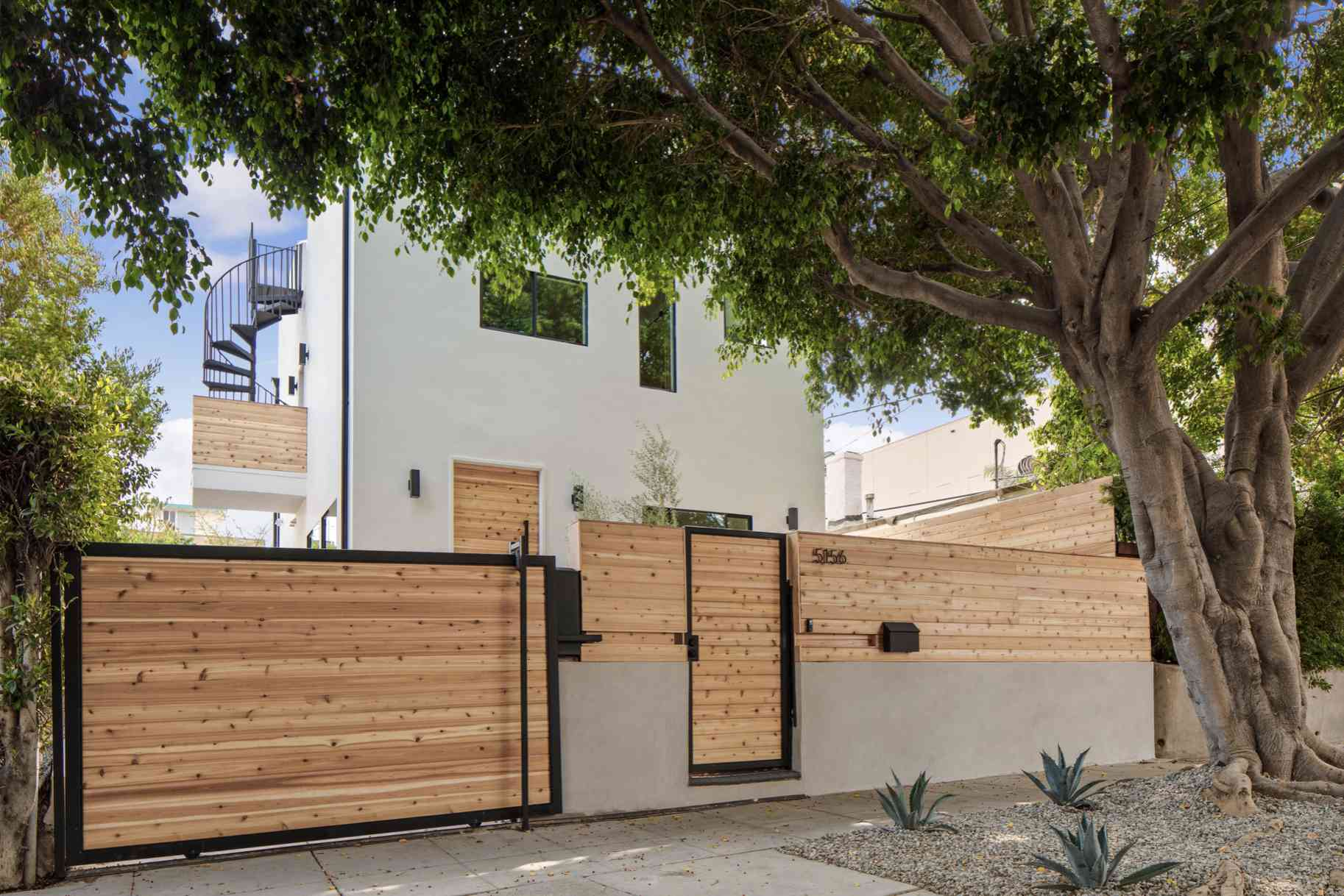 backyard privacy fence made of wood