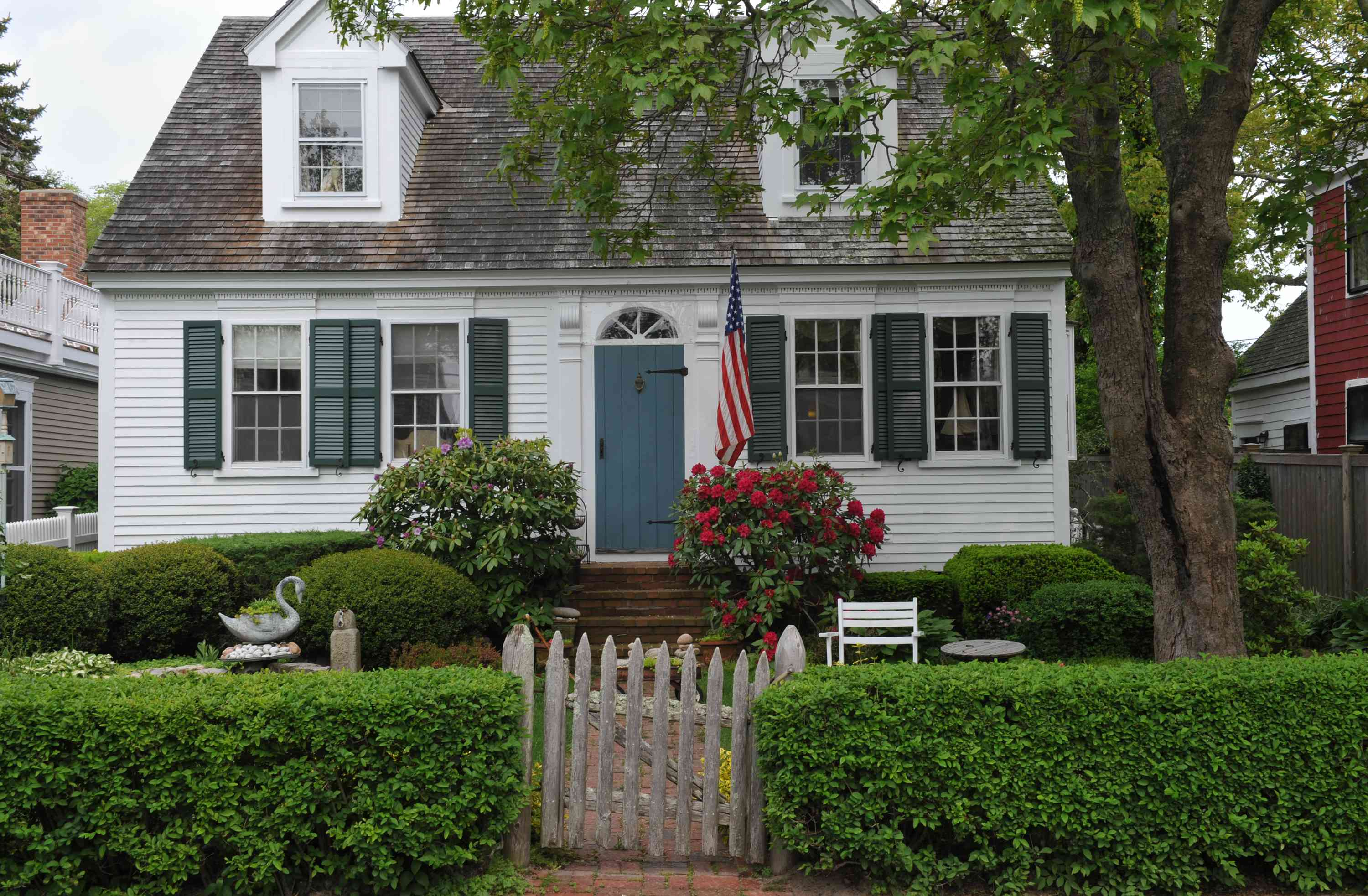 Cape Cod style house in Provincetown, Mass.