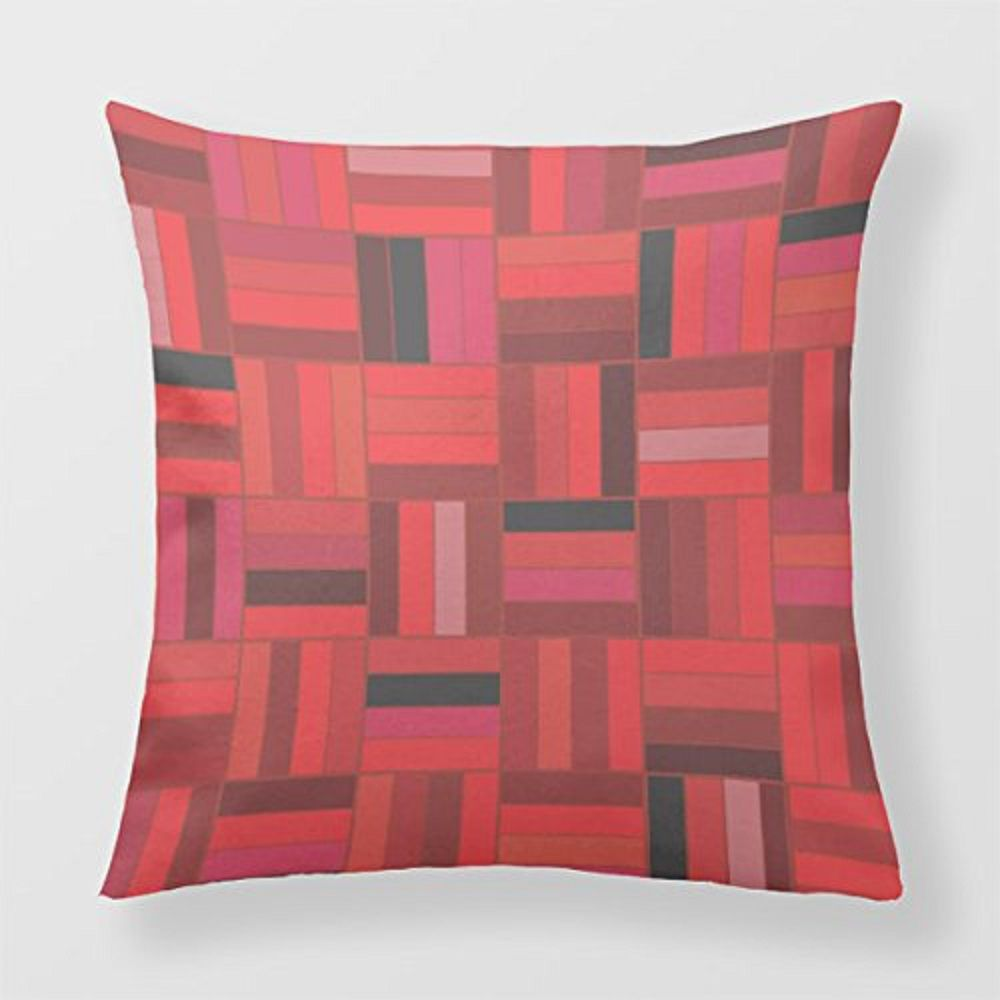 Basketweave pattern throw pillow