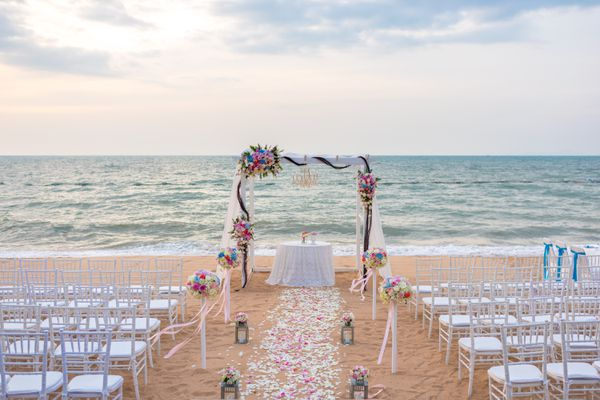 Romantic place for wedding ceremony