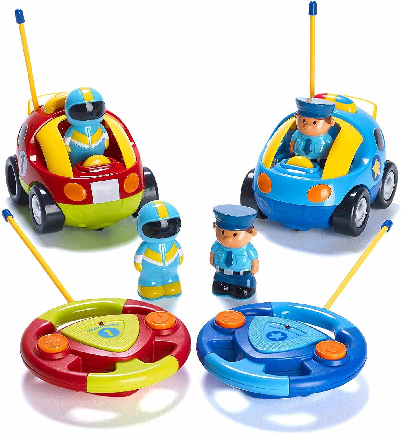 Pretex Pack of 2 Police Car and Race Car