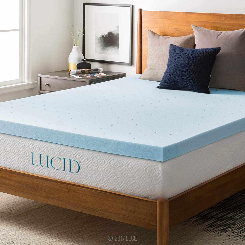 Lucid 3-Inch Memory Foam Mattress Topper