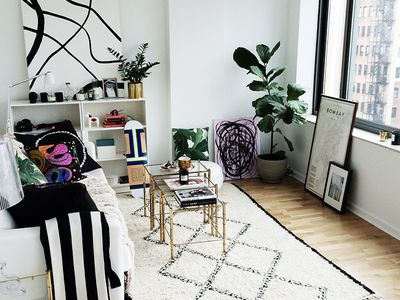 21 Desk Ideas Perfect For Small Spaces - Interior-design-for-apartment-living-room