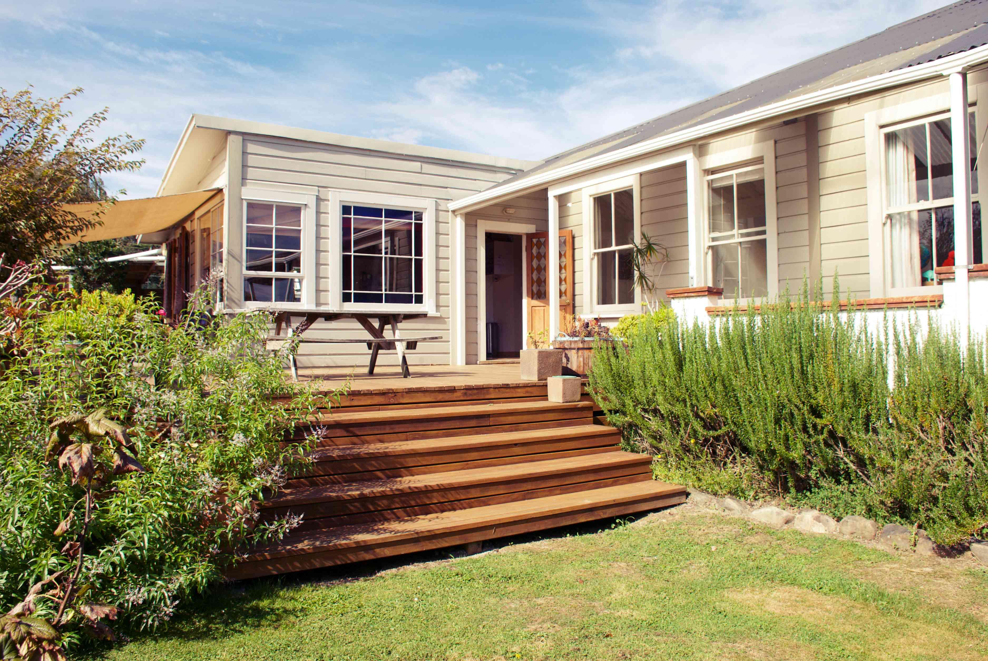 Exterior de la casa de la villa de Nueva Zelanda