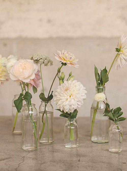 Floreros de brotes