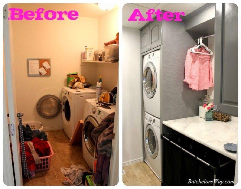 Transform A Tiny Laundry Room