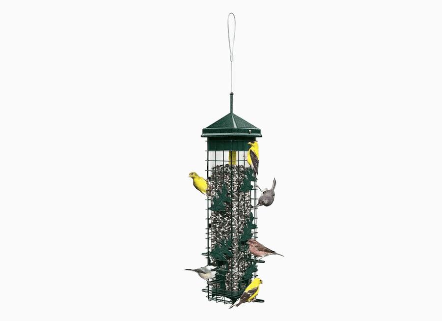 Bird Feeder Park Bird Wild Outdoor Garden Hanging Ports Seed Plastic FeederWCH