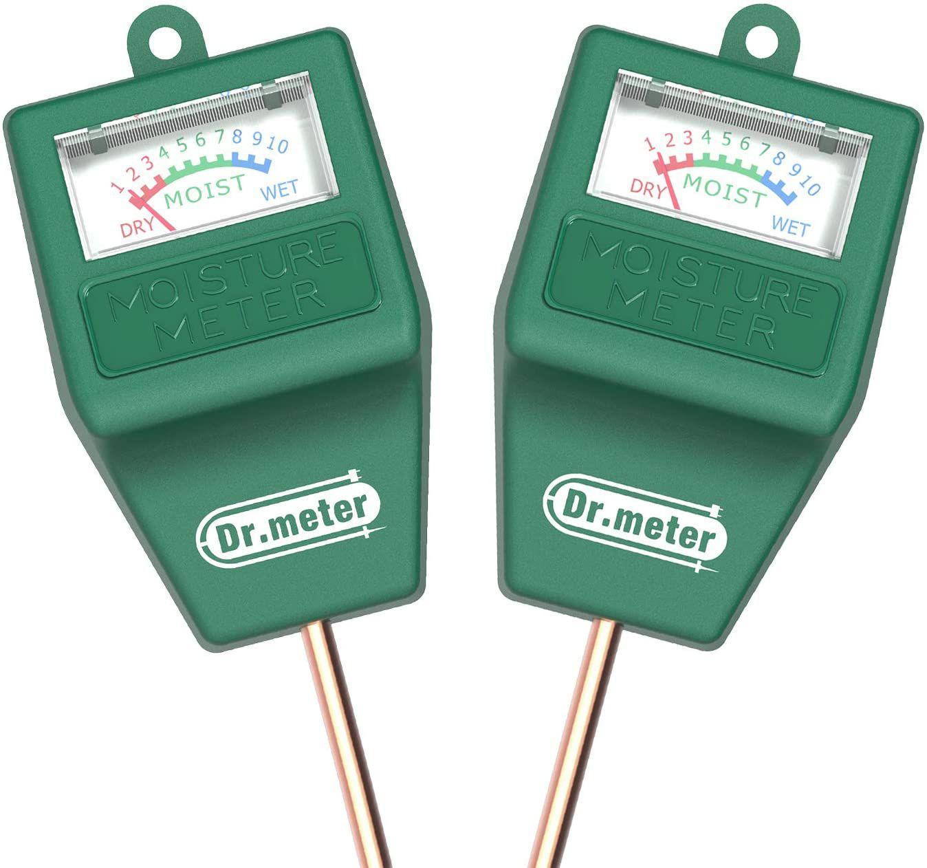 Dr. Meter Soil Moisture Meter-2 Packs Soil Test Kit