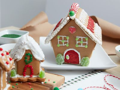 decorated gingerbread house