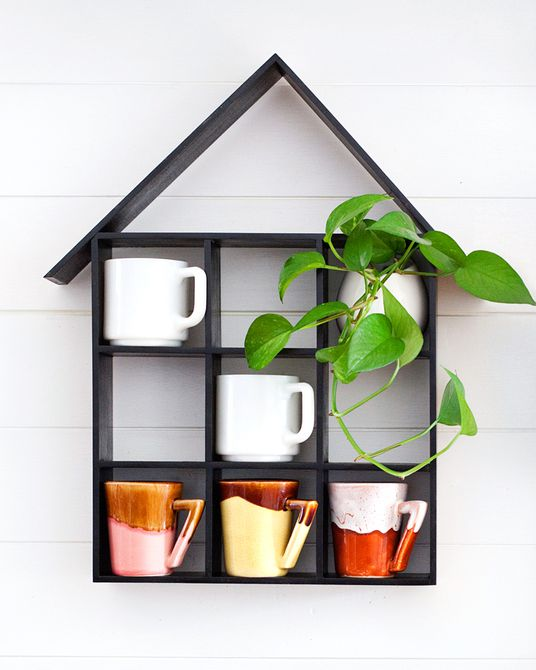 Casa de bricolaje Estante en forma de taza