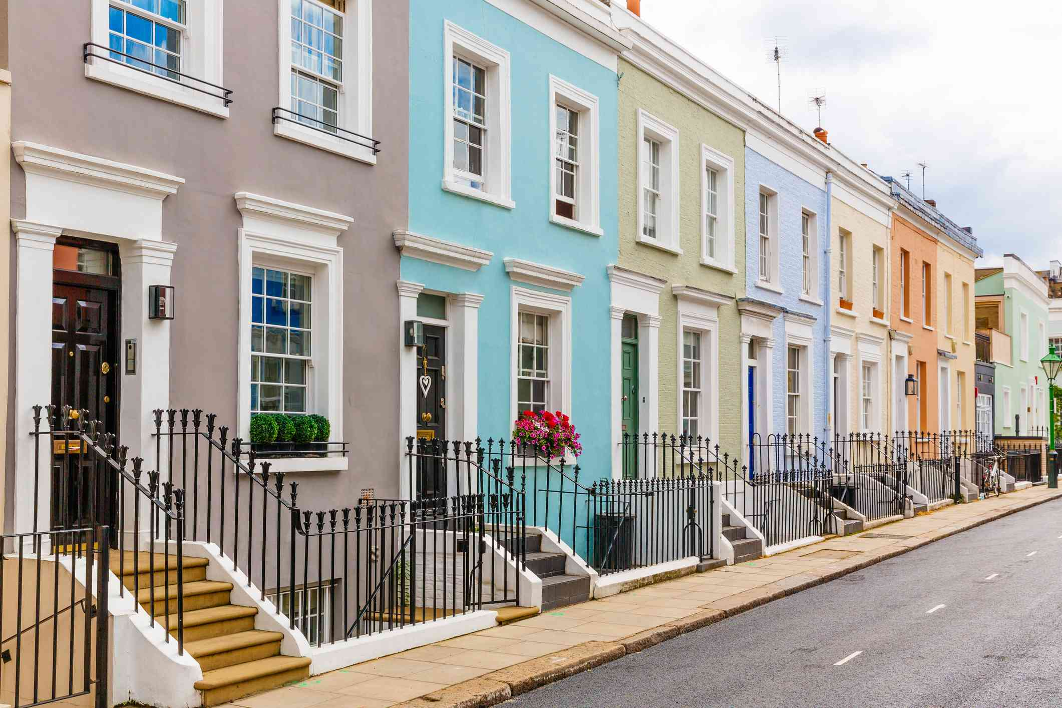 Rowhouses in Notting Hill, London