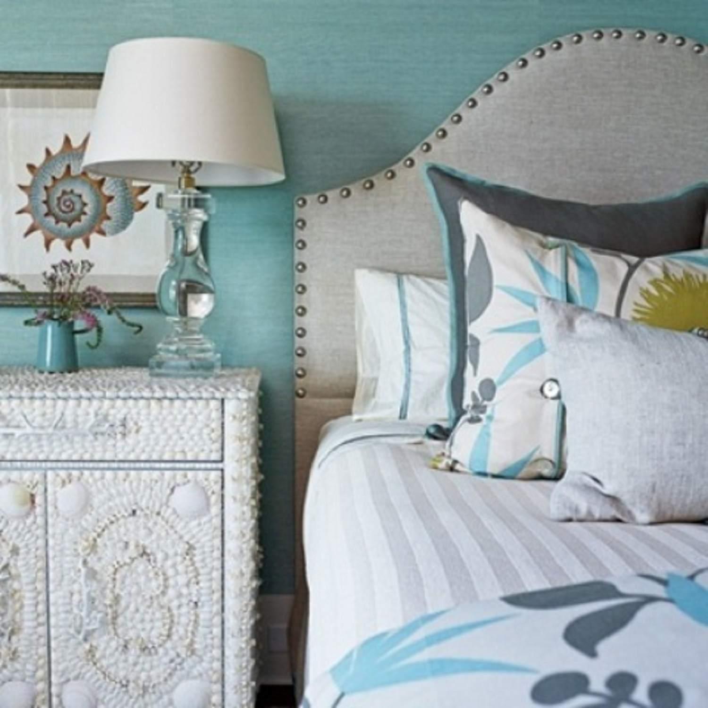 Seashell covered nightstand