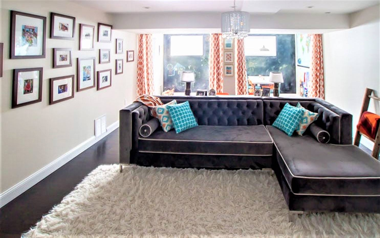 Beautiful Basement After Remodeling