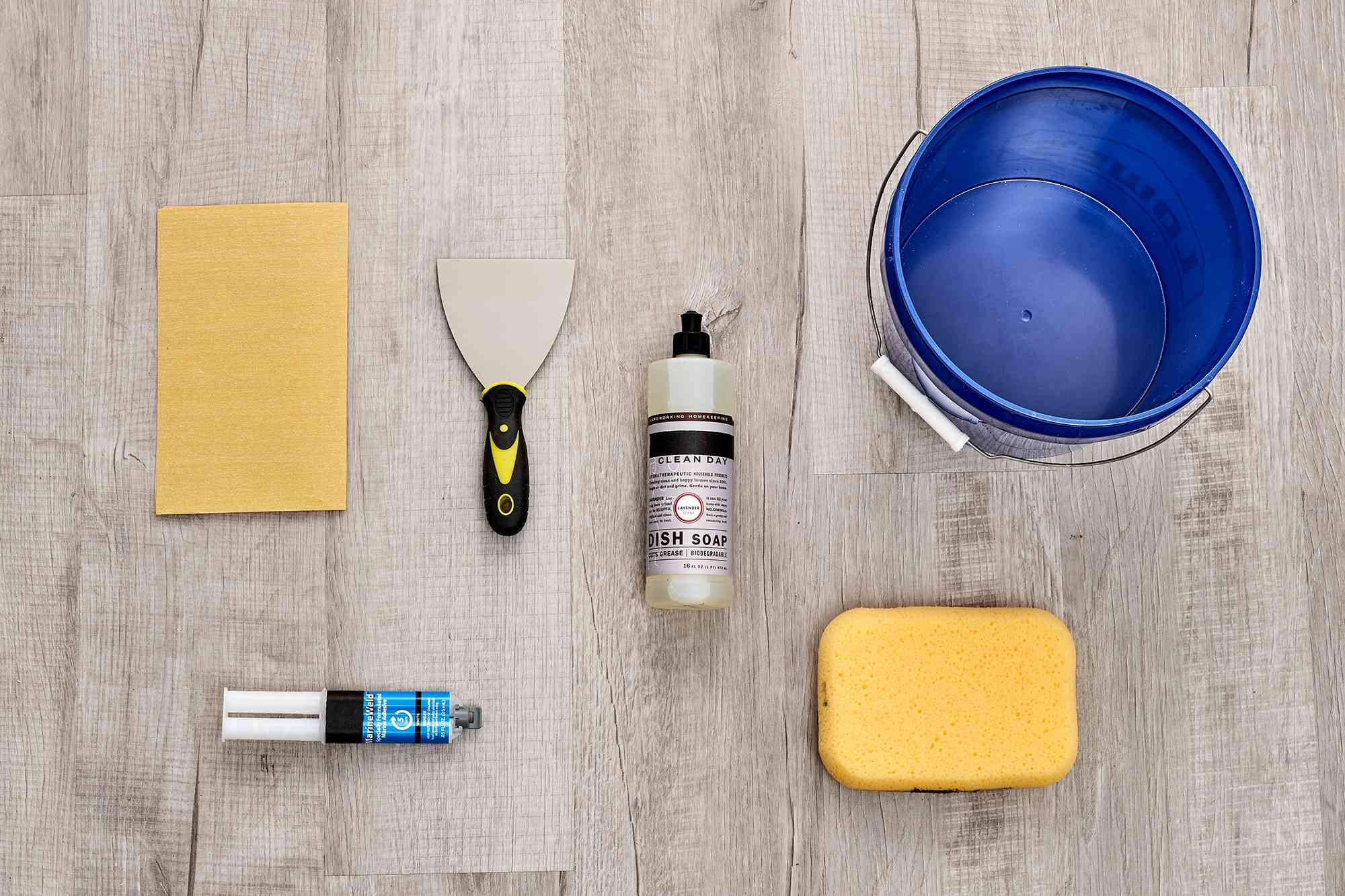 Materials and tools to fix a hairline crack on toilet tank or bowl
