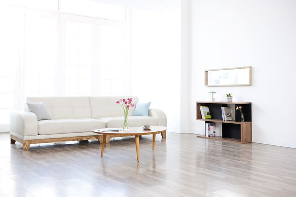 a clean living room