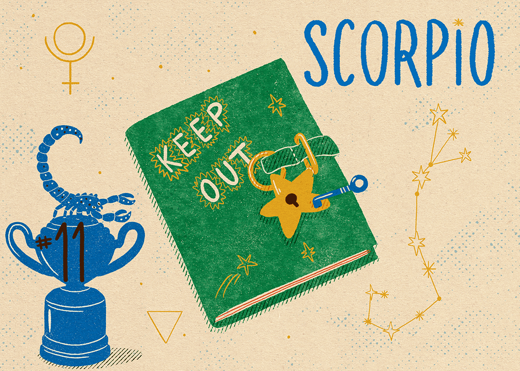 scorpio zodiac politeness illustration