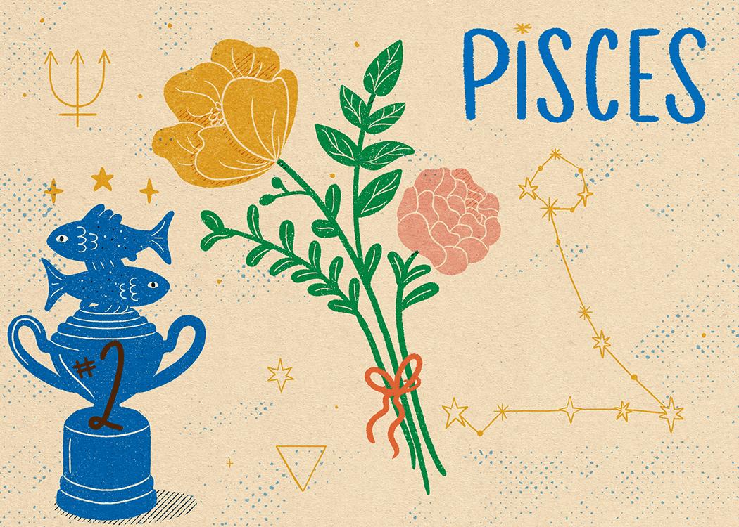 pisces zodiac politeness illustration