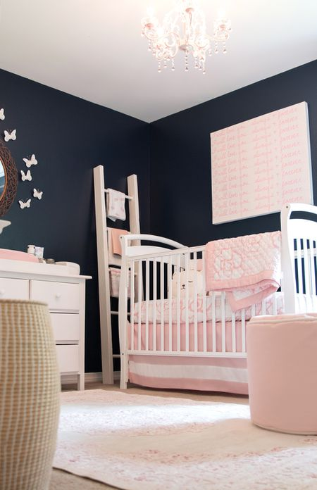 Pink And Navy Nursery