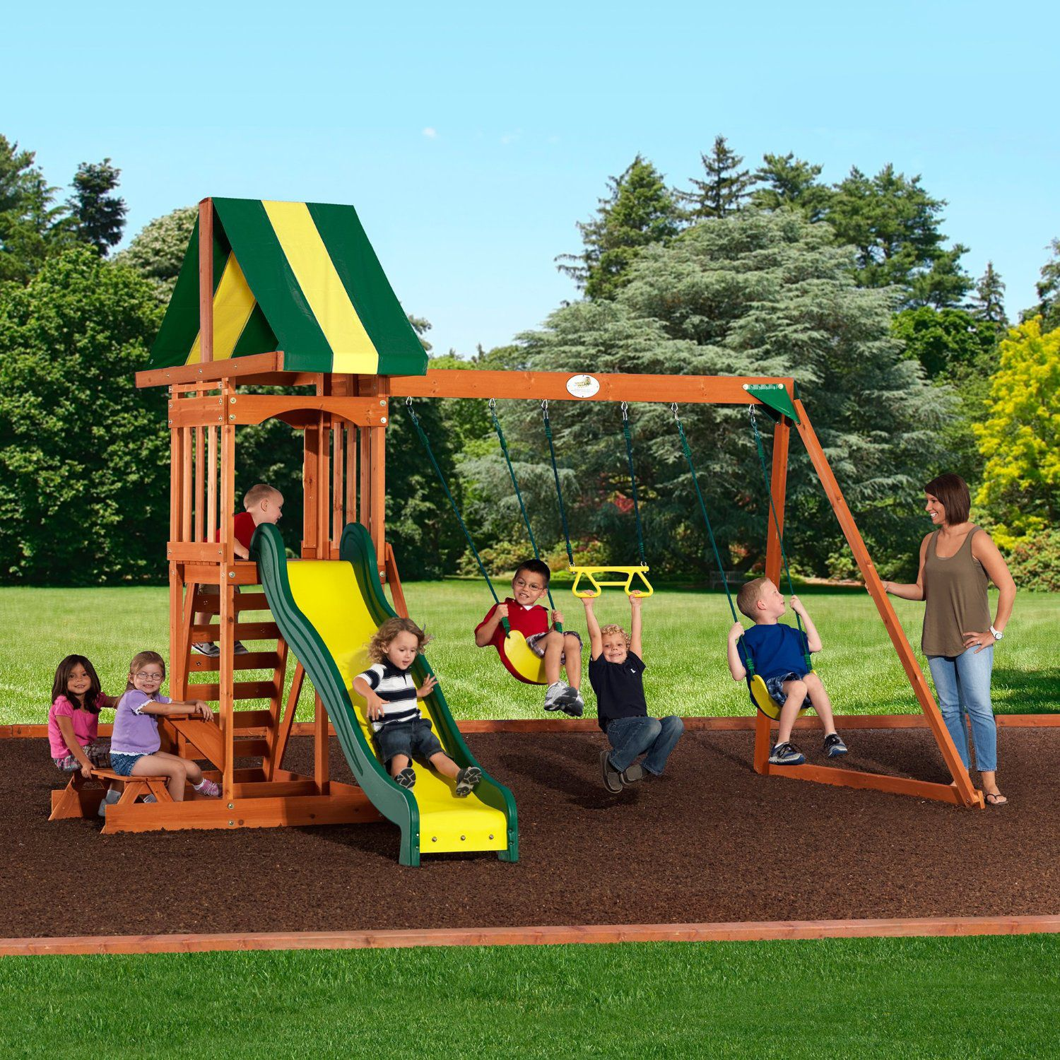 The 8 Best Wooden Swing Sets And Playsets To Buy In 2019