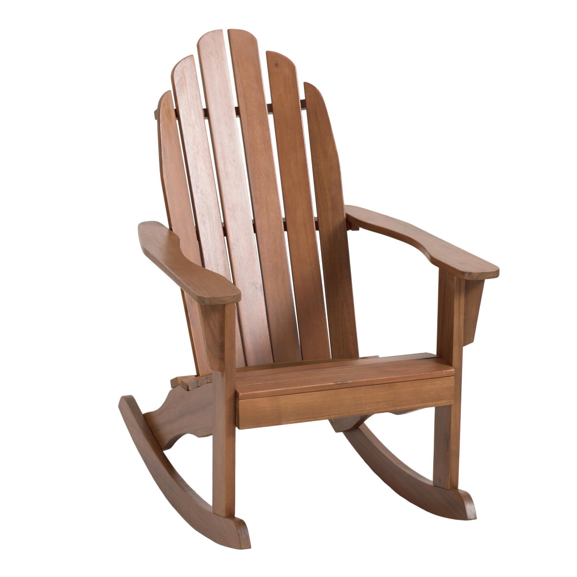 World Market Natural Wood Adirondack Rocking Chair