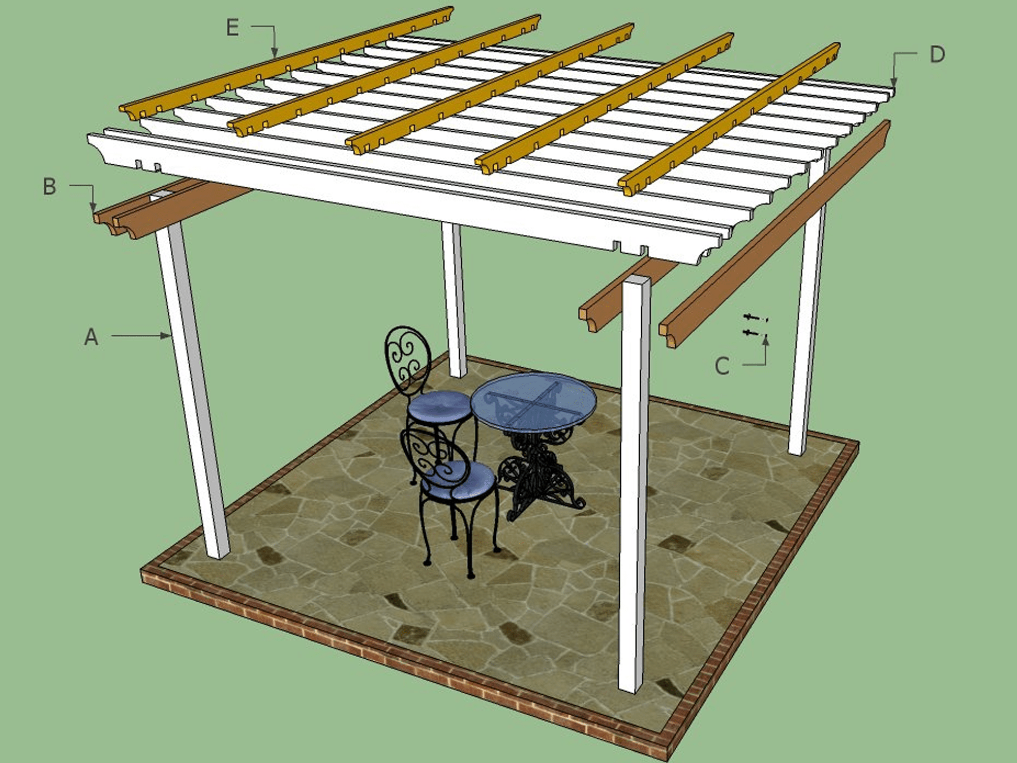17 Free Pergola Plans You Can Diy Today Inground Pool Wiring Diagram Picture Schematic How To Specialists Plan