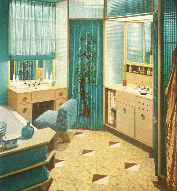 Baño elegante de 1940