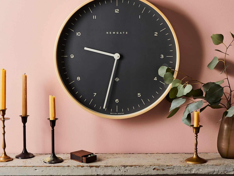 Newgate Mr. Clarke Large Modern Plywood Wall Clock