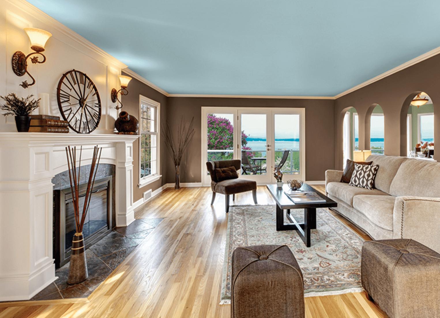 Beach-inspired living room