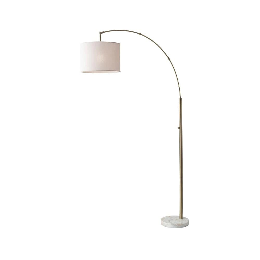 "Home Depot 73.5"" Antique Brass Bowery Arc Lamp"