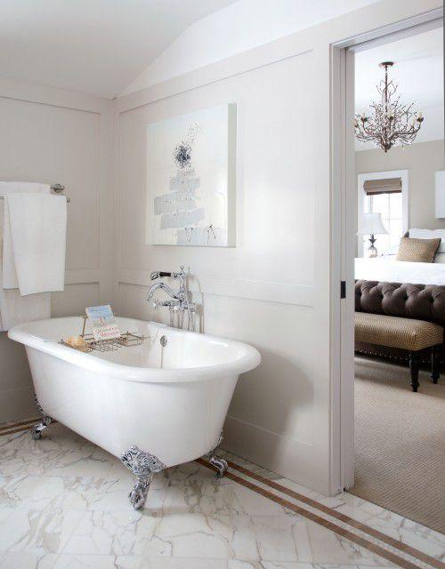 modern bathroom clawfoot tub