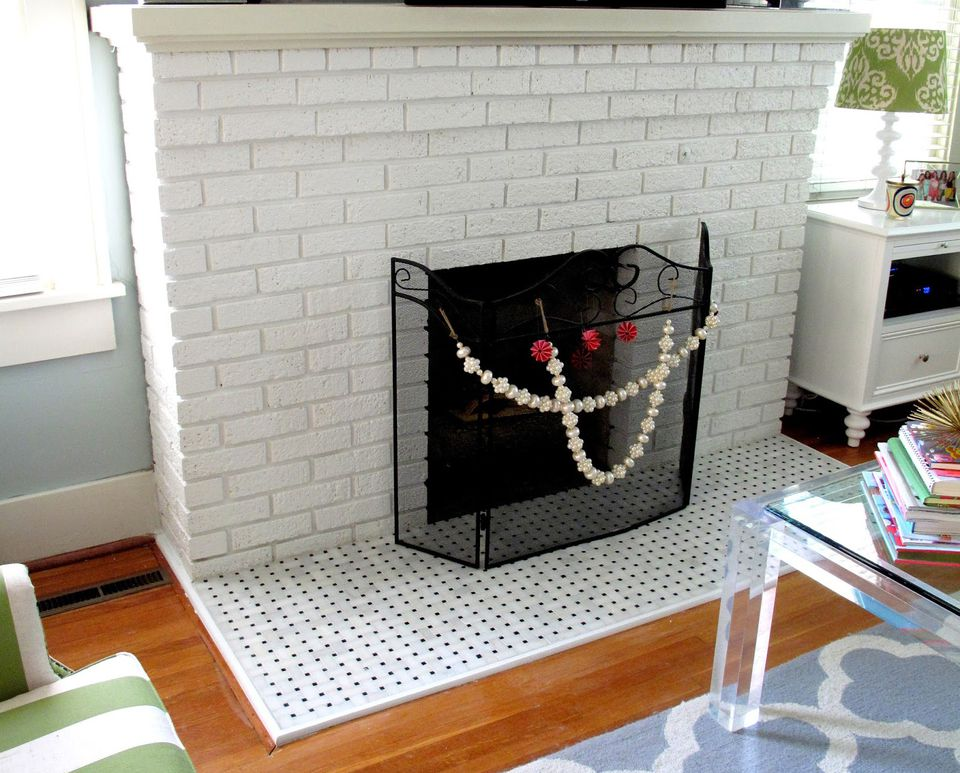 25 beautifully tiled fireplaces - Tile over brick fireplace ...