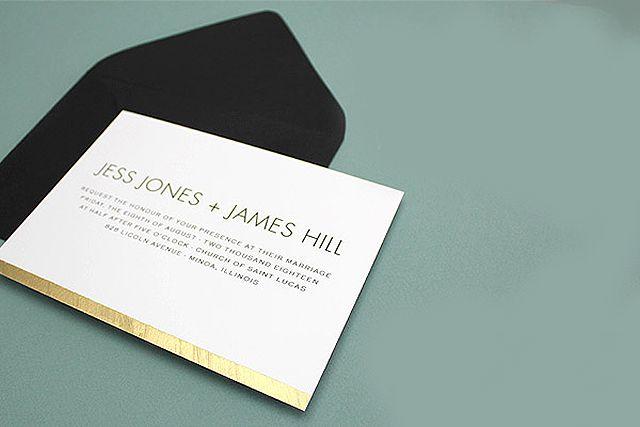 Brushed Gold Printable Wedding Invitation