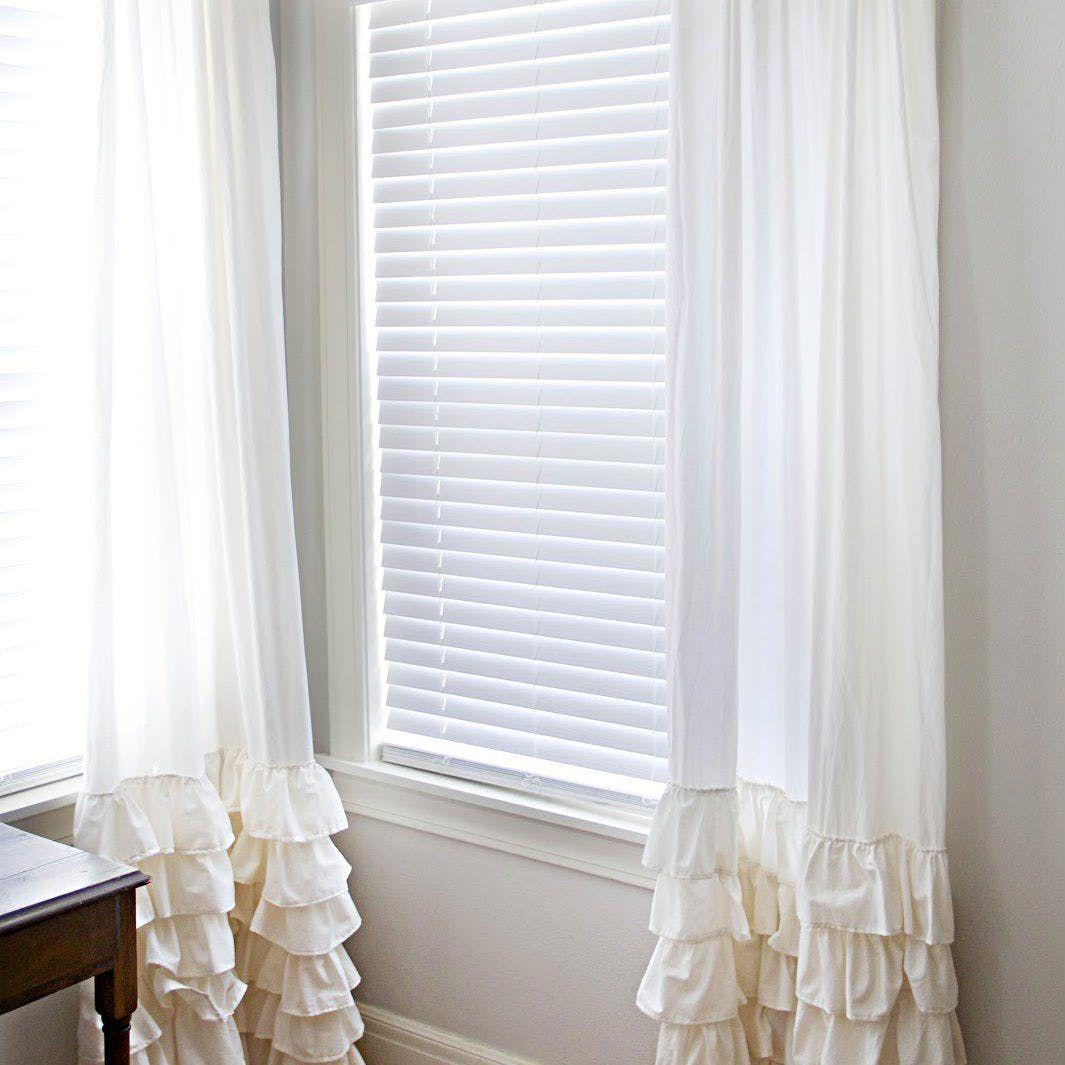 ruffled curtains