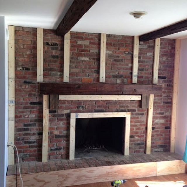 Before And After Fireplace Makeovers, Can I Cover My Brick Fireplace With Stone