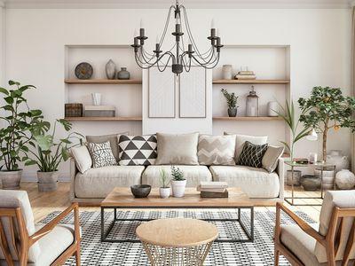 A neutral Scandinavian living room