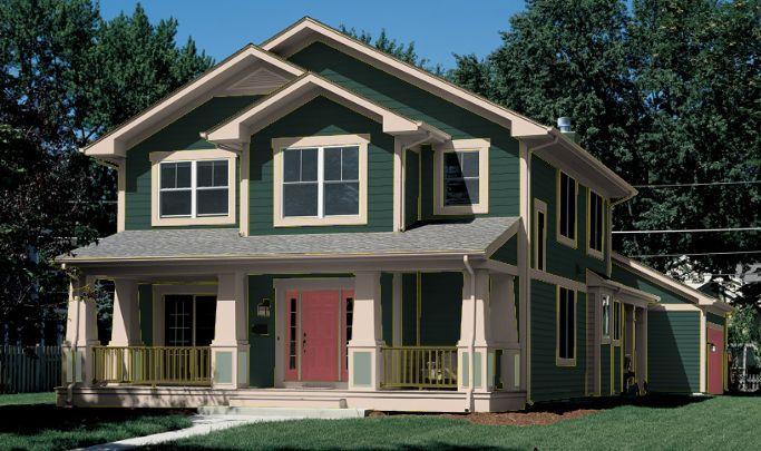 Color de casa verde medio bosque